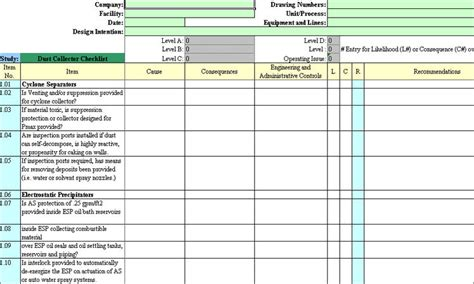 safety analysis template 29 images of hazard assessment template leseriail
