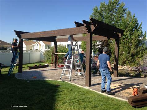 pergola installation diy pergola kit backyard bed dining w privacy curtains western timber frame