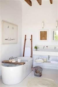 petite salle de bain blanche zen couleur en deco bois With petite salle de bain zen