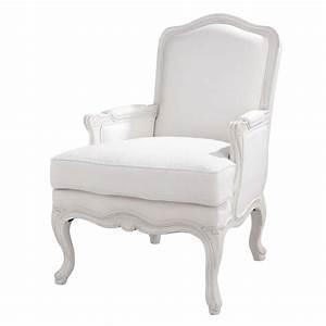 Fauteuil Crapaud Maison Du Monde : fauteuil blanc ch teau maisons du monde ~ Melissatoandfro.com Idées de Décoration