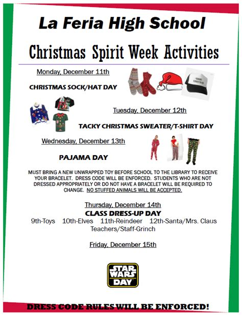 See more ideas about homecoming spirit week, homecoming spirit, spirit week. Christmas Spirit Week - La Feria High School