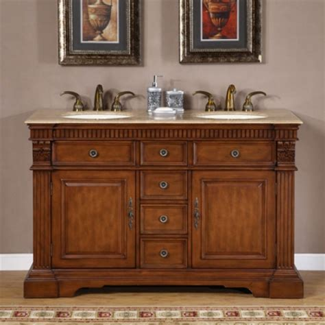 furniture style double sink bathroom vanity