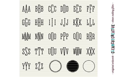 Svgcuts.com blog free svg files for cricut design space, sure cuts a lot and silhouette studio designer edition. Circle Monogram Font - SVG DXF EPS - Modern Fashion Style ...