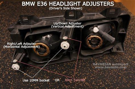 bmw e36 headlight adjustment 318i 318ti 325i 328i