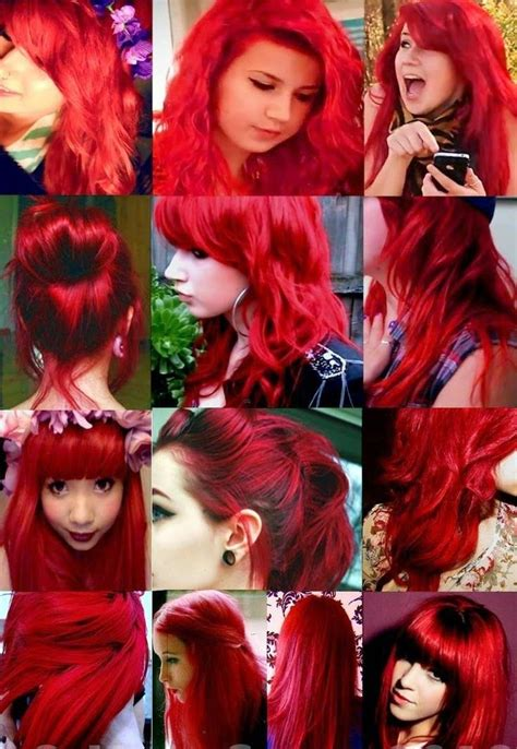 red coloured hair rojo rote images  pinterest