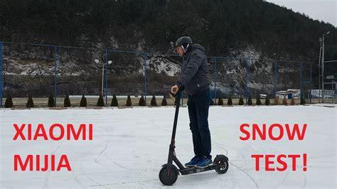xiaomi m365 test xiaomi m365 snow test