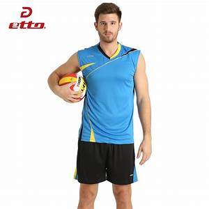 Etto 2018 New Top Quality Volleyball Jerseys Kits Men ...
