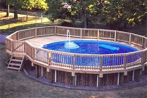 round pool deck swimming pools above ground pinterest