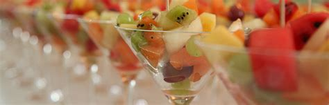 fruit canapes canapé stalls food huts live cooking stations