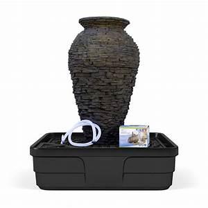 Medium, Stacked, Slate, Urn, Landscape, Fountain, Kit