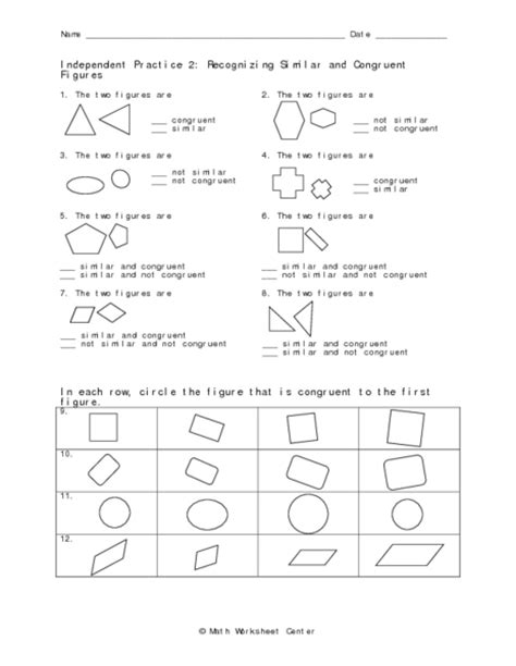 Proving Triangle Congruence Independent Practice Worksheet Answers  Congruent Triangles