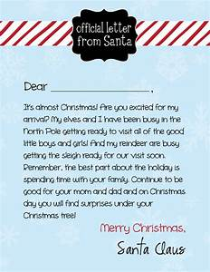 free letter from santa and holiday card giveaway enter With santas official letters