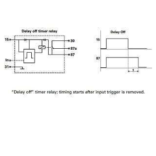 0 740 57 durite 12v programmed delay off timer relay 15 minute