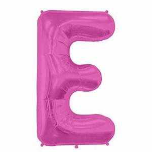 16 pink foil balloon letter e balloonscouk With pink foil letter balloons