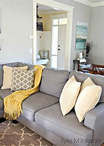 how to make a gray paint colour feel warm shown in living With home decor for gray furniture
