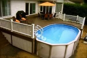 Amenagement Autour Piscine Hors Sol : terrasse autour d une piscine hors sol ~ Nature-et-papiers.com Idées de Décoration