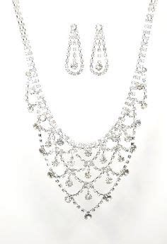 silver necklace set pinterest prom jewelry silver