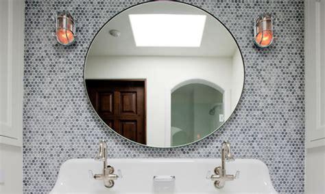 Round bathroom mirrors with lights, round mosaic mirror