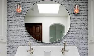 Bathroom round mirrors, round mosaic mirror tiles bathroom ...