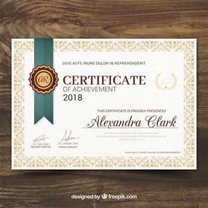 Certificado de reconocimiento en estilo vintage Descargar Vectores gratis