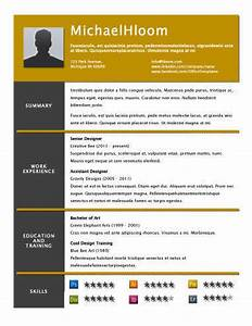 49 creative resume templates unique non traditional designs With hloom