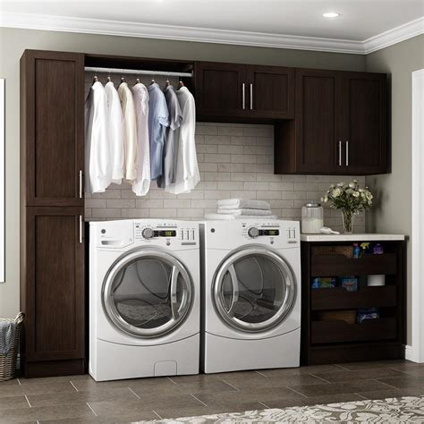 utility cabinets home depot modifi horizon 105 in w white laundry cabinet kit enl105