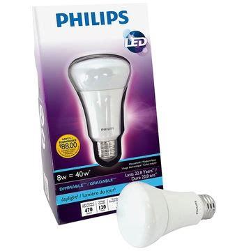 philips led a shape medium base 8w bulb