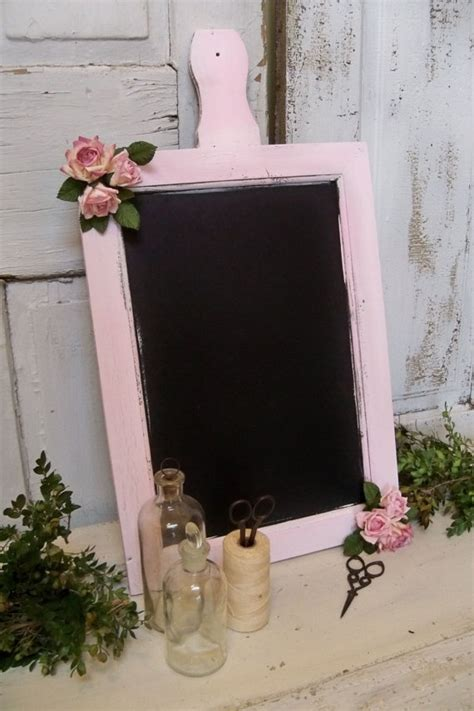 shabby chic chalkboards shabby chic pink chalkboard paddle wood style by anitasperodesign 60 00 unique nursery decor