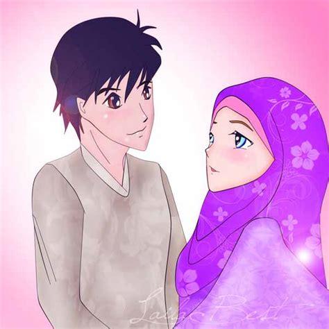 gambar anime islam romantis 15 gambar kartun muslim dan muslimah romantis