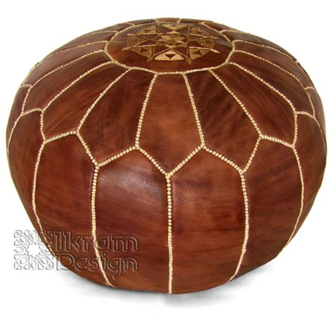 Moroccan Ottoman by Brown Moroccan Leather Pouf Pf020 149 99 Moroccan