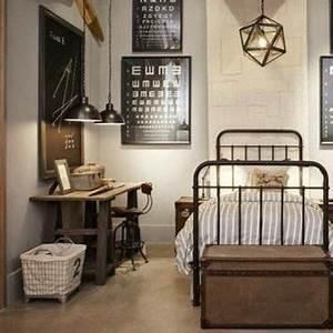 Chambre Deco Industrielle : l 39 ternel style industriel chambres chambre garcon et ~ Zukunftsfamilie.com Idées de Décoration