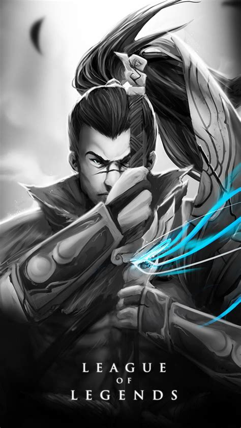 Yasuo Animated Wallpaper - yasuo skin black and white android iphone wallpaper