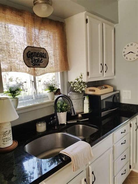 quaint sanctuary farmhouse kitchen counter decor