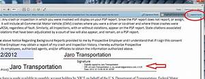 jaro transportation services With electronic document signing service