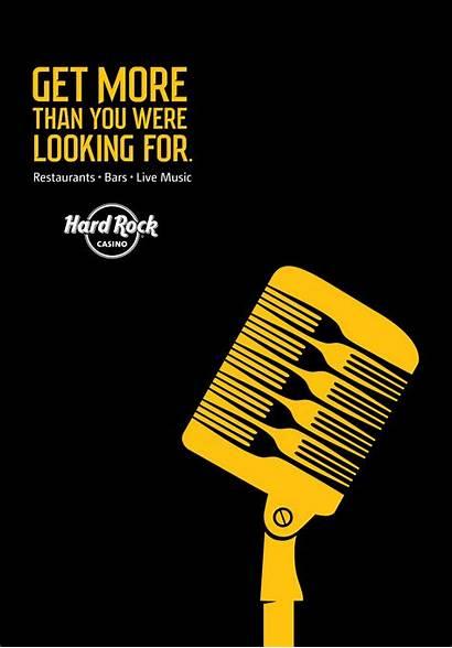 Microphone Advertising Hard Rock Casino Ads Creative