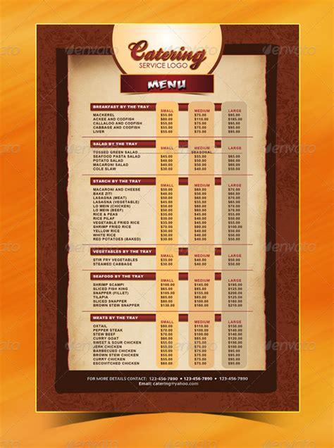 catering menu templates ai psd google docs apple
