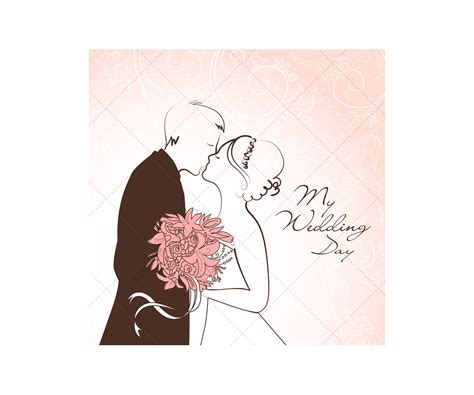 wedding card vectors  wedding couple wedding card