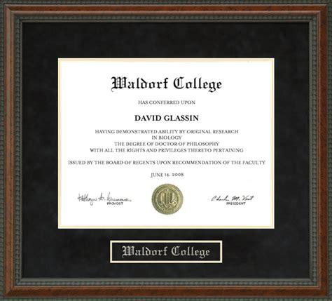 waldorf college diploma frame wordyisms