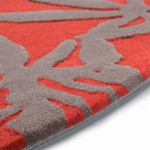 tapis gris et rouge ziloofr With tapis contemporain rouge