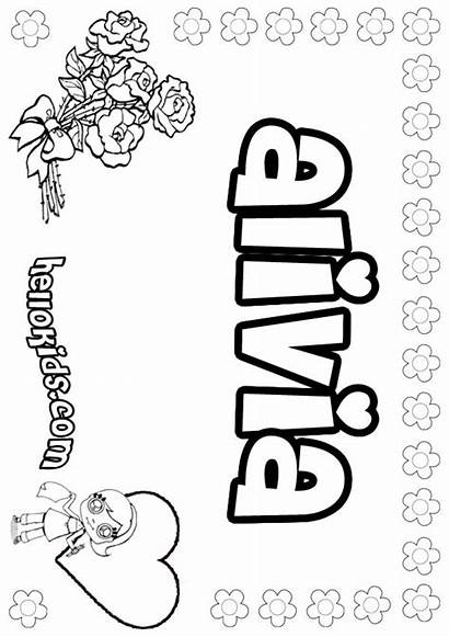 Alivia Coloring Pages Hellokids Names