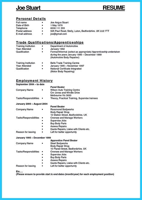 writing  great automotive technician resume