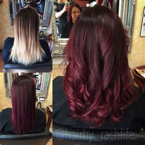 burgundy dark red hair color ideas   haircuts