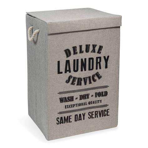 magasin chambre bebe panier à linge en tissu laundry deluxe maisons du monde