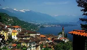 Blick  U00fcber Ronco Und Den N U00f6rdlichen Lago Maggiore   Tessin  Foto  U0026 Bild