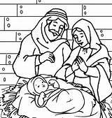 Jesus Coloring Pages Manger Christmas Mary Joseph Printable Precious Moments Getcolorings Happy Birthday Getdrawings Colorings Familyfriendlywork Guardado Desde sketch template
