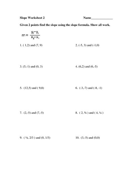free worksheets finding slope given two points coloring activities and student on