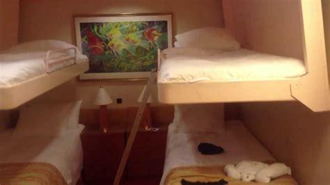 Carnival Spirit Interior Quad Room 6121 - YouTube