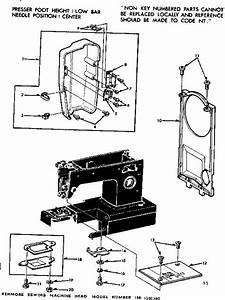 Kenmore 1581561180 Mechanical Sewing Machine Parts
