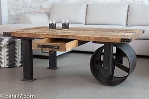 Roue Industrielle Pour Table Basse : table basse industrielle roue noire barak 39 7 table basse pinterest roues noires table ~ Nature-et-papiers.com Idées de Décoration