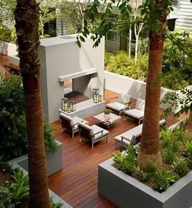 decoration jardin terrasse en 25 exemples modernes With amenagement terrasse piscine exterieure 7 objet deco jardin jardideco fr